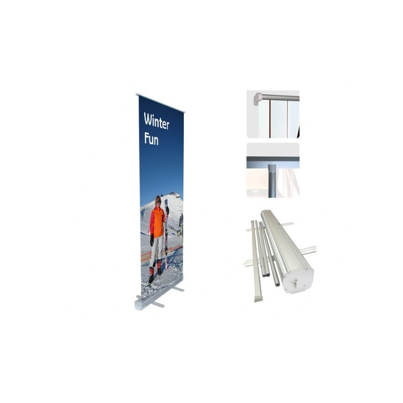 Roll up banners pull up banners display stands pop up for Stand roll up