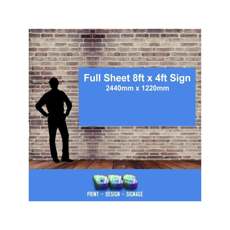 8ft x 4ft Corriboard - Corrugated PVC