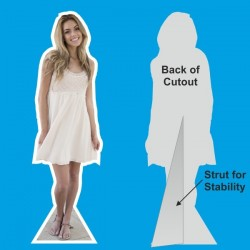 Lifesize Cutouts - White Outline - 1830mm or 6ft High