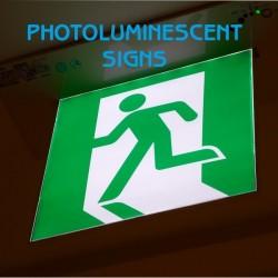 Photoluminescent Signs 3mm pvc