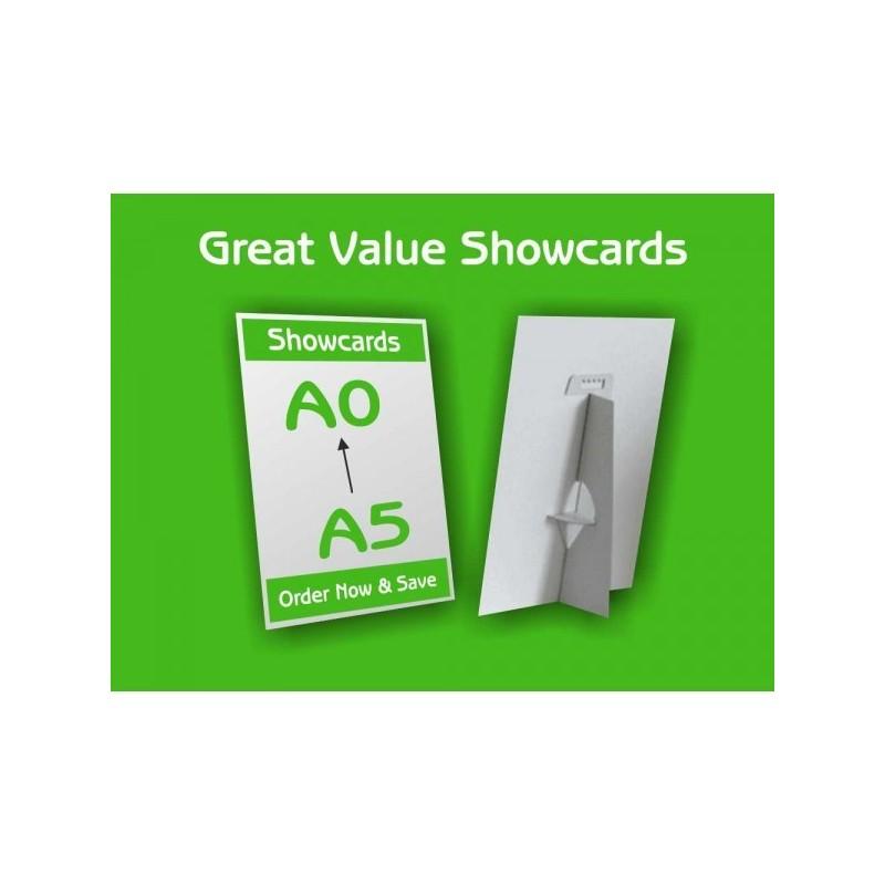 A5 show cards
