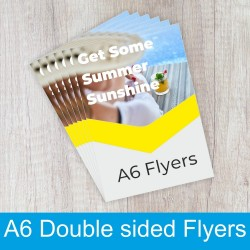Double sided A6 Flyers