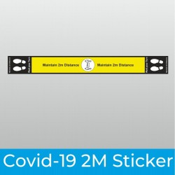 Covid-19 2m Wide Floor Stickers