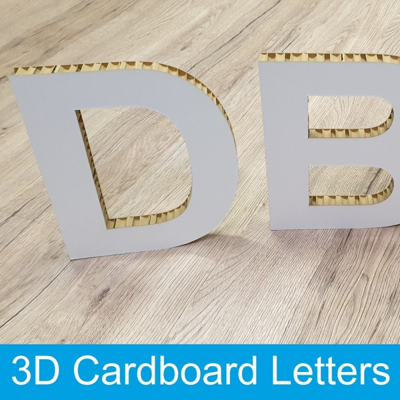 3D Cardboard letters 200mm high