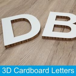 3D Cardboard letters 200mm