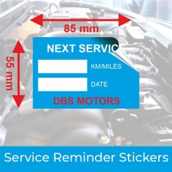 Car Service Reminder Sticker
