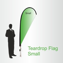 Small Teardrop Flag