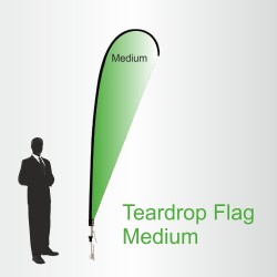 Teardrop Flags Medium 3.4m High