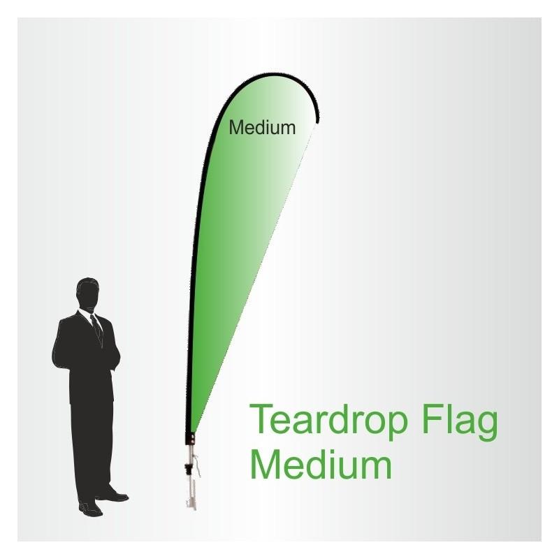 Teardrop Flags Medium 3.4m High