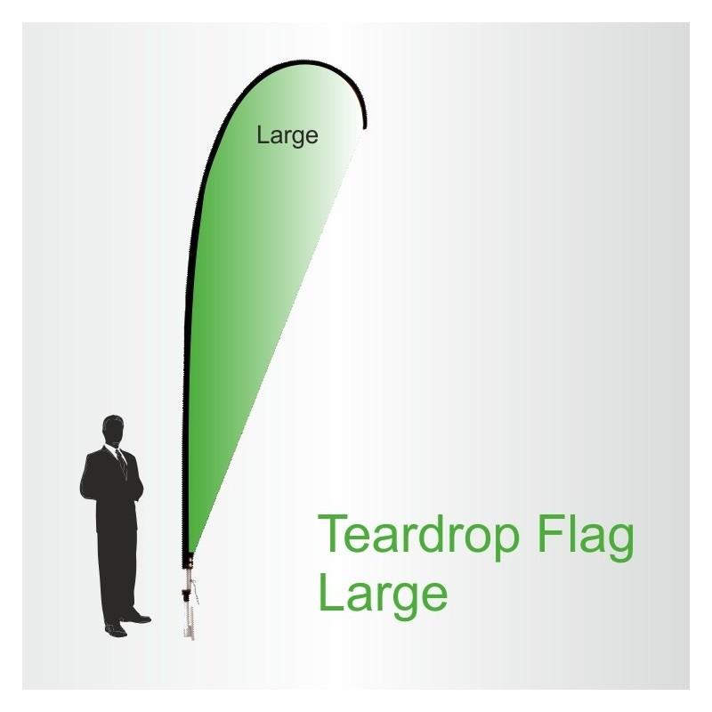 Teardrop Flags Large 4.5m