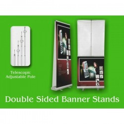 Roll Up Banners, High End Double Sided Banner Stands